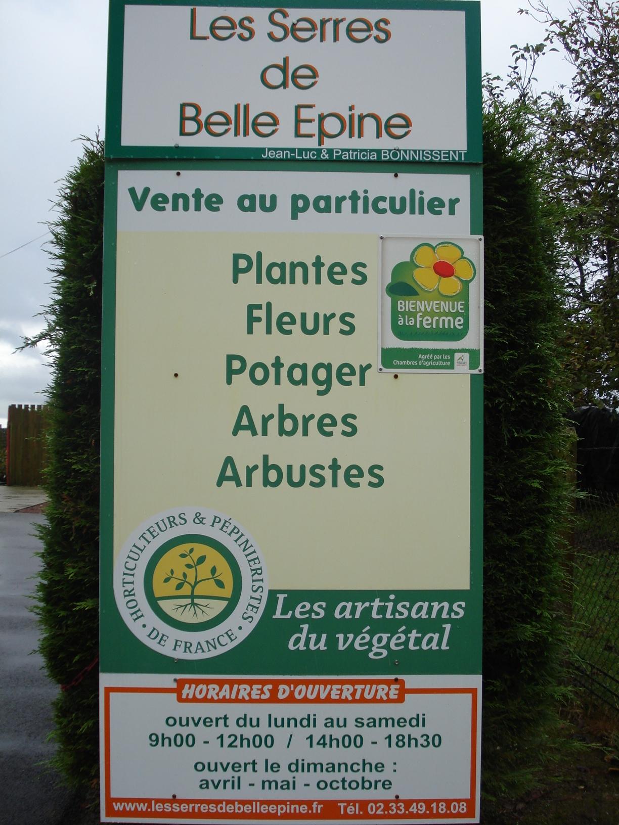 Label Artisan du végétal de Les Serres de Belle Epine à SAINT BRICE ...